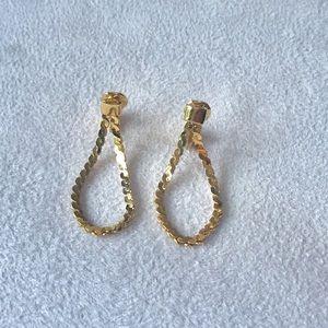 Monet Chain Dangle Clip-On Earrings